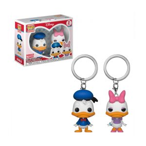 2 Porte-clés «Donald & Daisy»