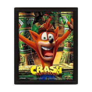 Cadre effet 3D «CRASH BANDICOOT»