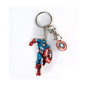 Porte clés + Jeton «CAPTAIN AMERICA»