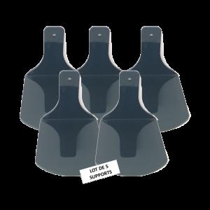 LOT DE 5 Supports muraux adhésifs POP Noir en boîte