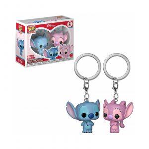 2 Porte-clés «Stitch & Angel»
