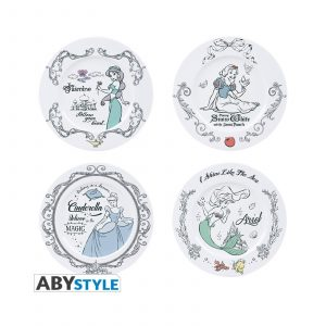 4 Assiettes DISNEY PRINCESSES