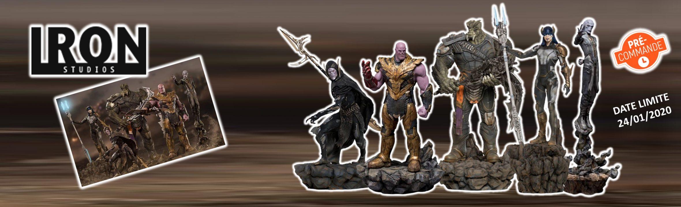 figurines résine Iron studios Avengers Endgame marvel