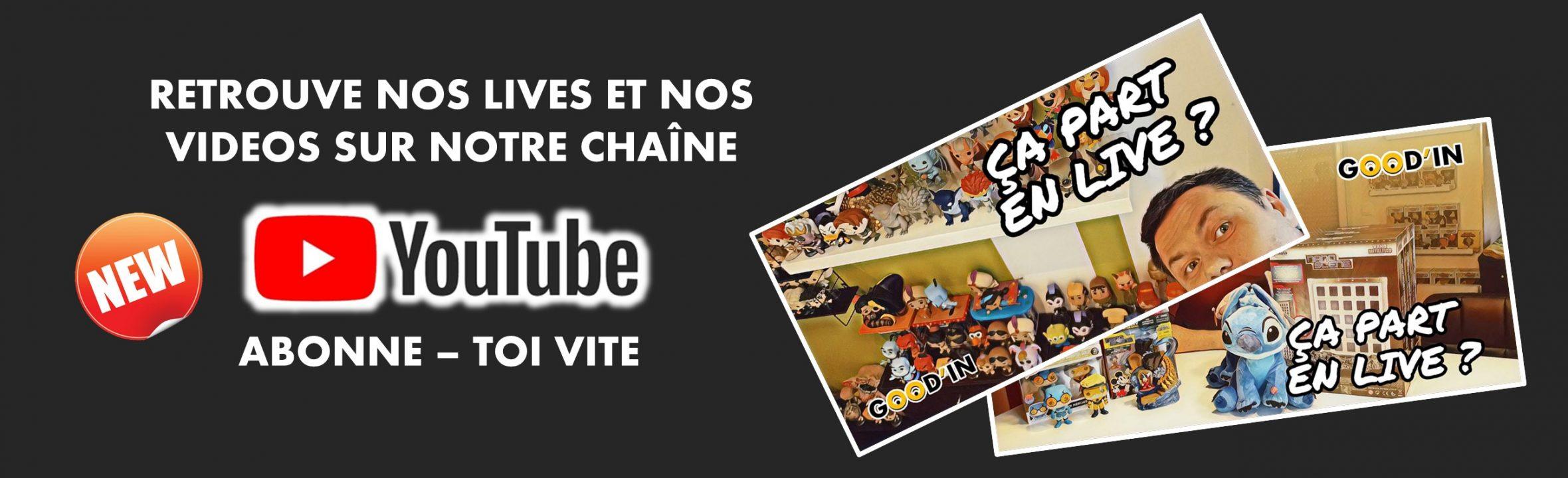 videos et lives chaine youtube goodin shop