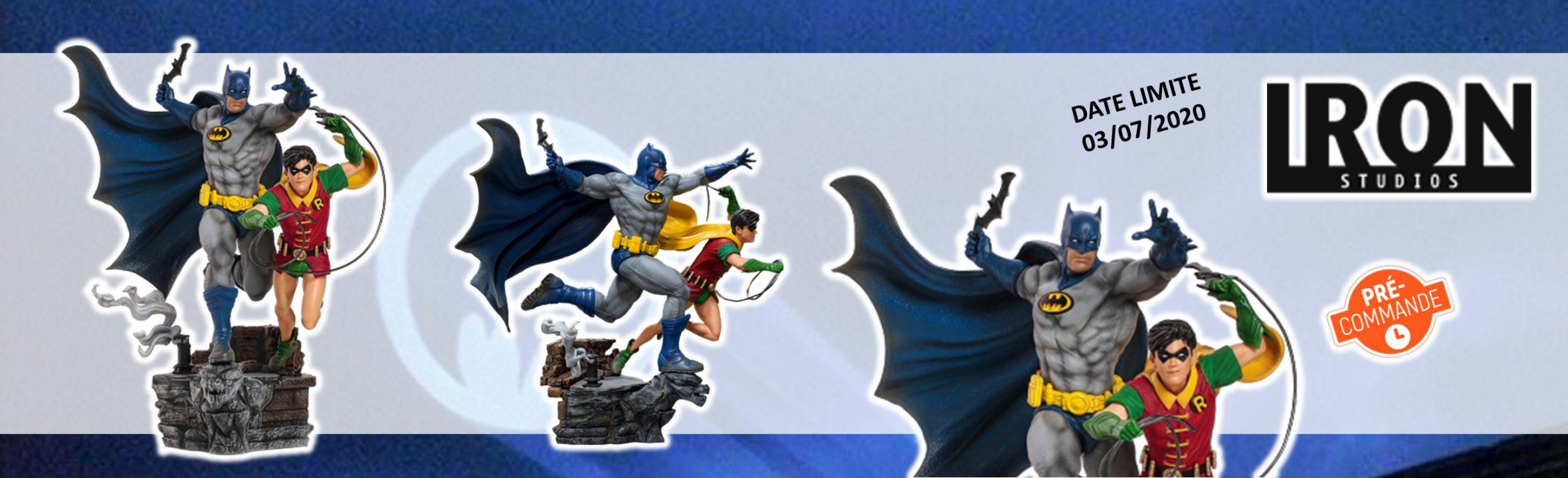 preco batman & robin iron studios artscale 25cm goodin shop