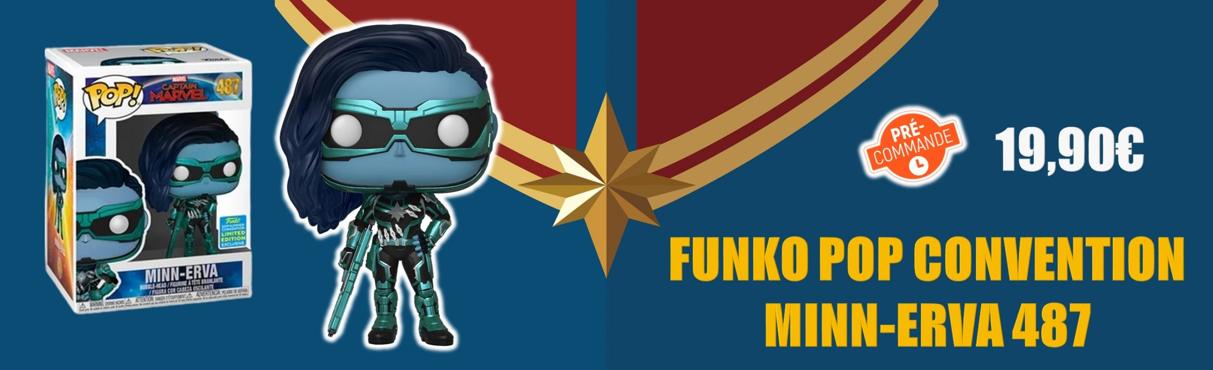 figurine funko pop Minn-erva 487 convention captain marvel goodin shop