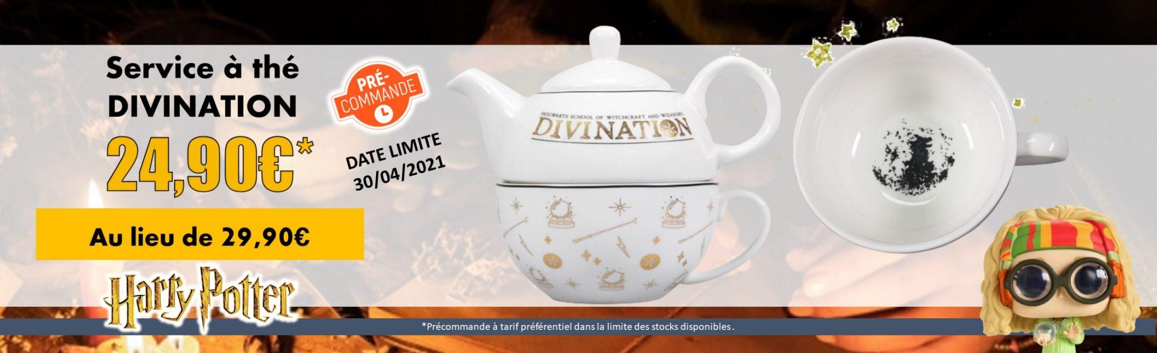 service à thé Harry Potter divination goodin shop