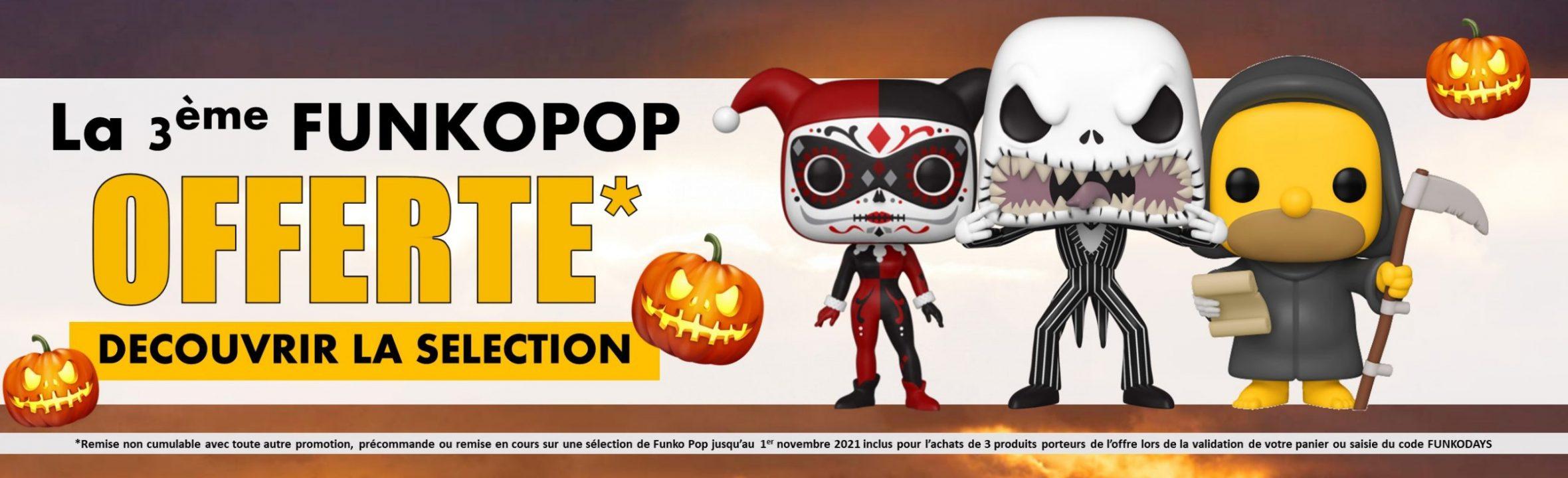 funko days 3ème pop offerte halloween 2021 goodin shop